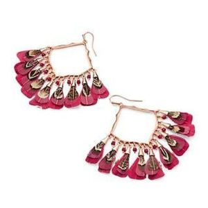 NWT Kendra Scott Raven Rose Feathered Earrings